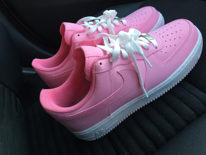 8bb0d894a682 Pink   White Air Force One AF1 Low · SneakerSuperShop · Online Store ...