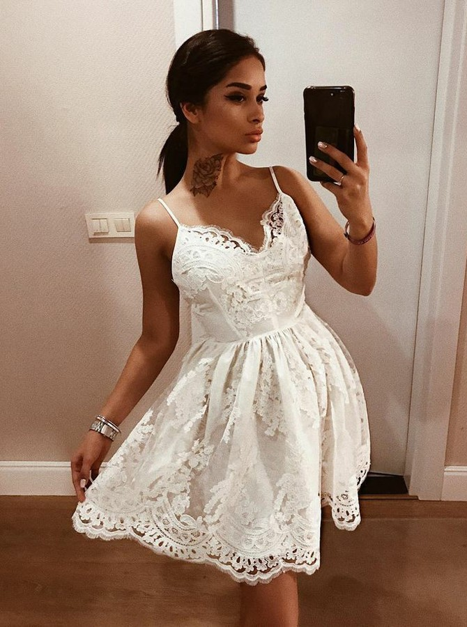 772ee3519a9b A Line Backless Short White Prom Dress
