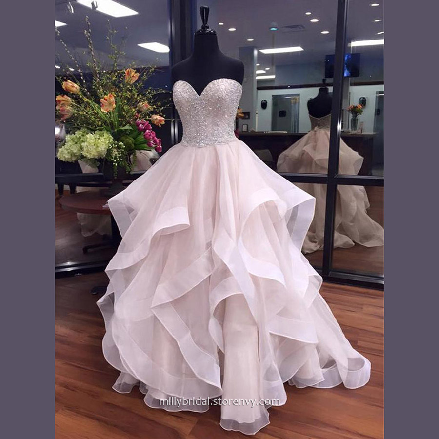 fa9e678b36c0 Trendy Prom Ball Gowns For Cheap,Ball Gown Sweetheart Long Evening Dresses,Organza  Formal Dresses with Beading,#020103055 on Storenvy