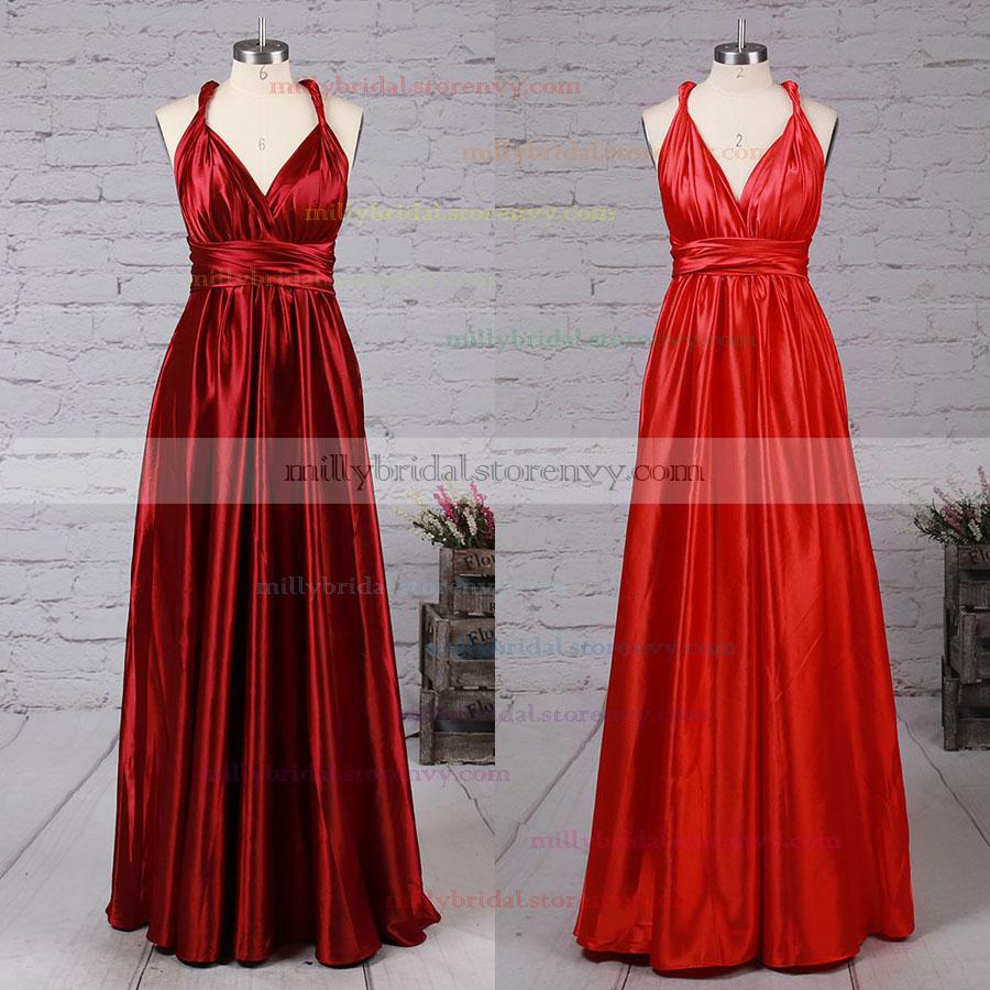 a73599a154b95 Long Prom Dresses,A-line V-neck Formal Evening Dresses,Ankle-length ...