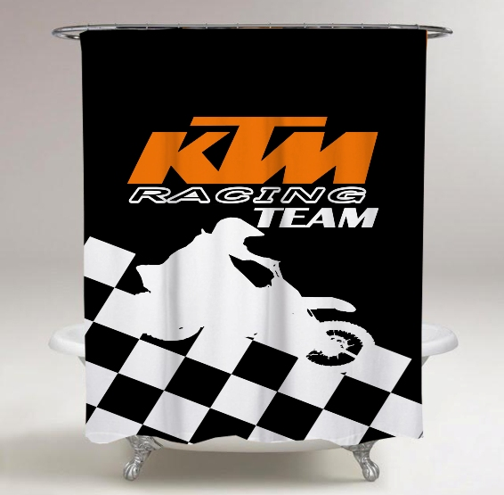 KTM Racing Flag Print On Custom Shower Curtain Limited Edition Storenvy