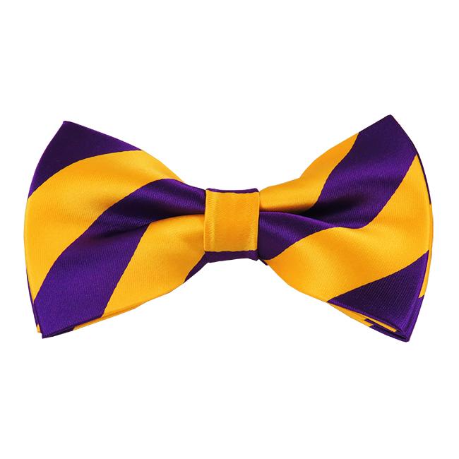 6f14433ec796 Gold & Purple Stripe Bow Tie on Storenvy