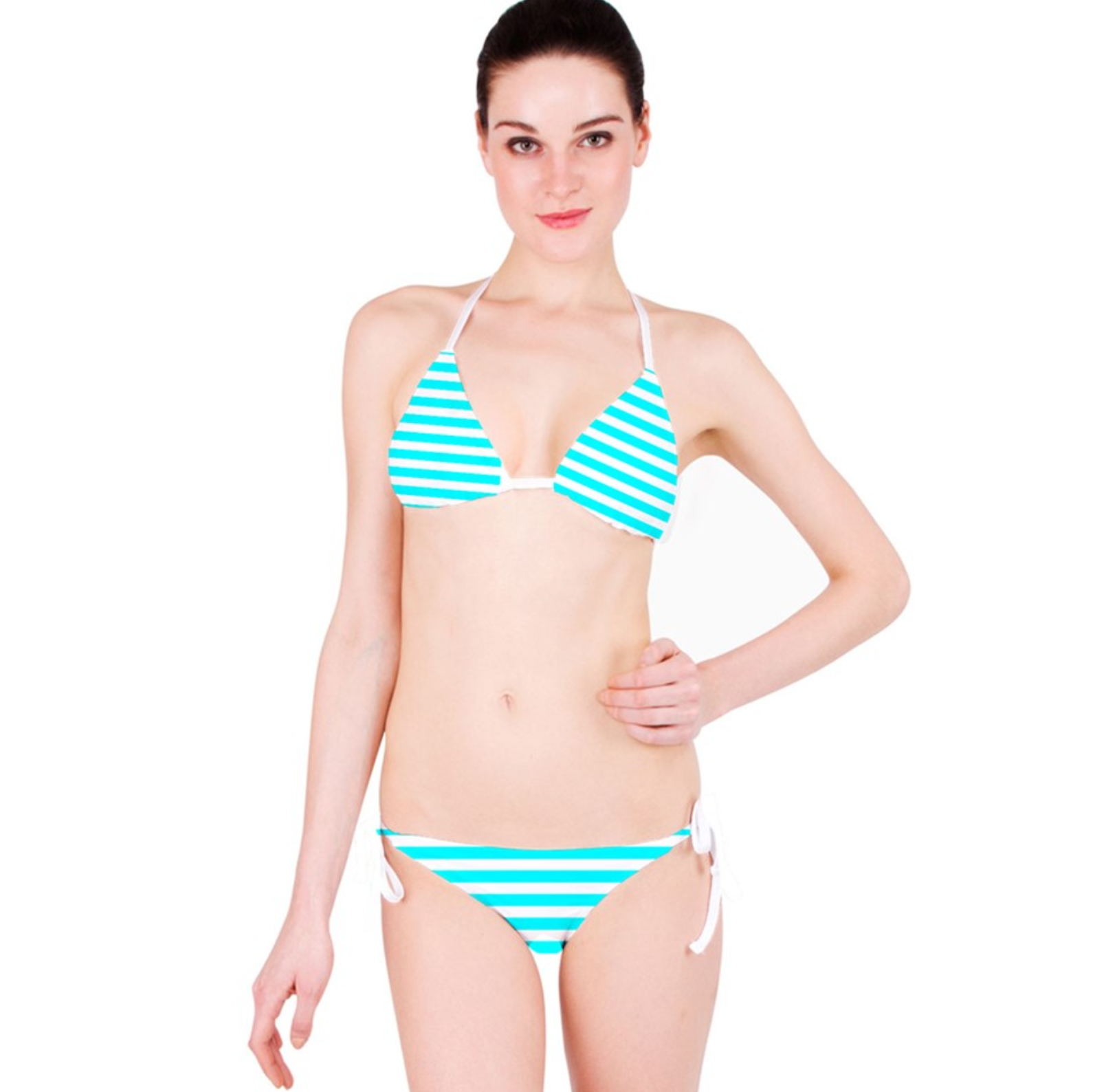 e66d0f6ae Hatsune Miku - Blue Teal Aqua Striped Bikini on Storenvy