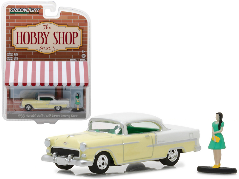 1955 Chevrolet Bel Air Yellow With Woman In Dress The Hobby Shop