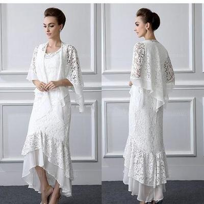 0a83ab8571c10 2018 formal lace mother of the bride dresses long sleeves sheath high low  plus size mother
