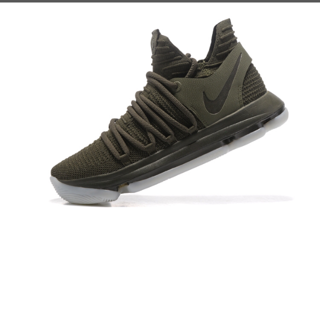 5ae599fefaae Newest Nike KD X 10 Olive Green Kevin Durant Men s Basketball Shoes ...