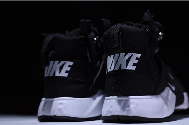 f61c9bf1c58ab ... New Arrivel Nike air Huarache CITY MID LEA Black White - Thumbnail 3 ...