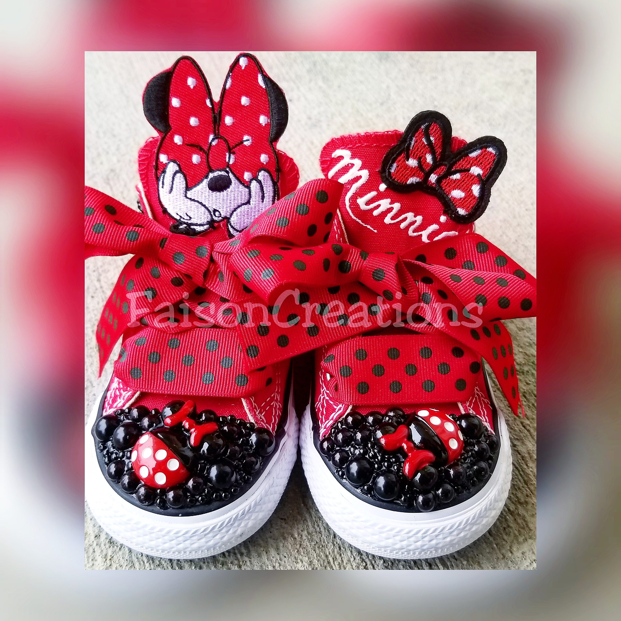 6ee913569ad4 Custom Minnie Mouse Converse (Low Top) · FaisonCreations · Online ...