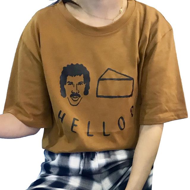 36ba11ced4 2018 Harajuku Korean Cartoon Printing Tops Tee Summer Good Quality  All-match Loose T-shirt Female Taste Short Sleeve T-shirts