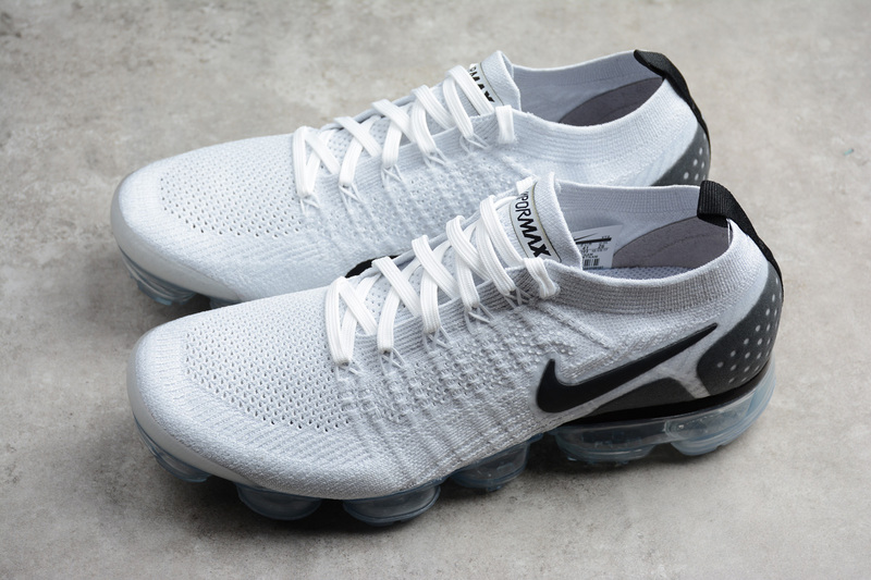 7e88be0852ab Nike Air VaporMax Flyknit 2 Wn s Mn s Running Shoes White black 942842-103