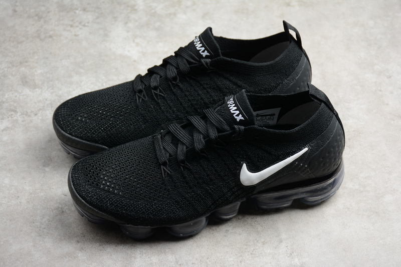 cb12bea114d6 Nike Air VaporMax Flyknit 2 Men s Running Shoes Black white 942842 ...