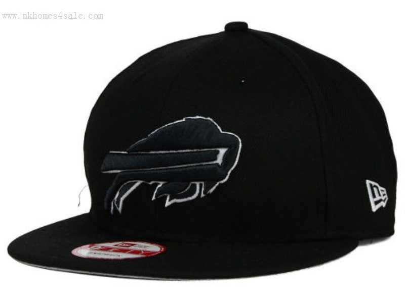 cf695a3e780 Black White Buffalo Bills New Era  quot NFL Black White 9FIFTY S on ...
