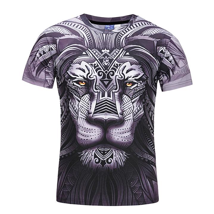 00547909 Totem Lion Digital Printed T-shirt Short Sleeve Slim T-shirts 5 Sizes on  Storenvy
