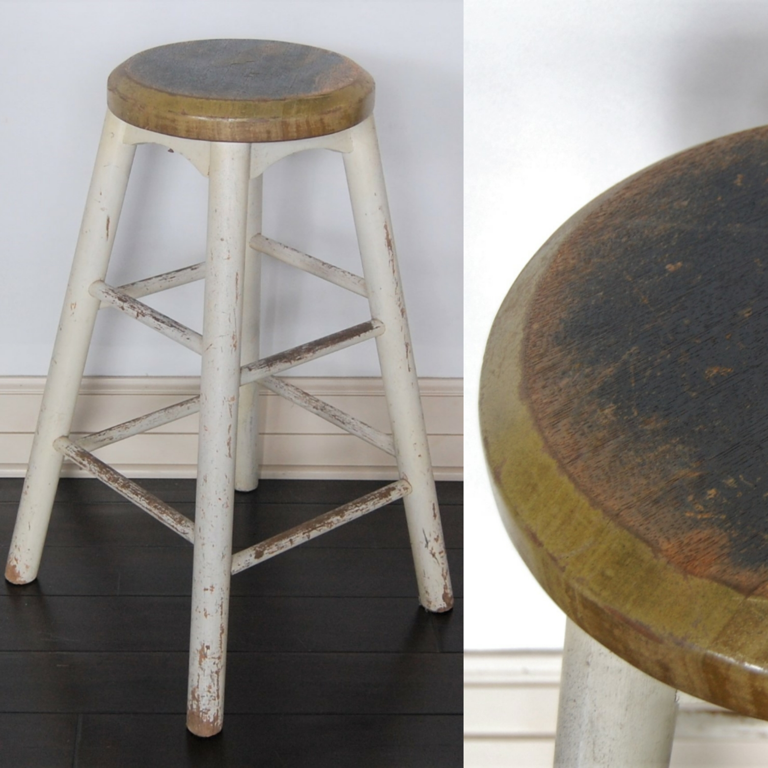 Admirable Rustic Wood Farm Stool Marinus Home Seattle Online Store Creativecarmelina Interior Chair Design Creativecarmelinacom
