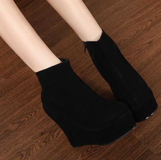 df118b65f044 Free shipping ankle martin fashion boots for women wedges shoes woman 2013 ladies  high heels pumps