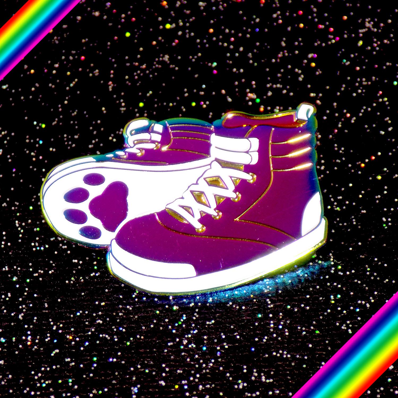 Sick Kicks Rainbow Pin from Watery Day