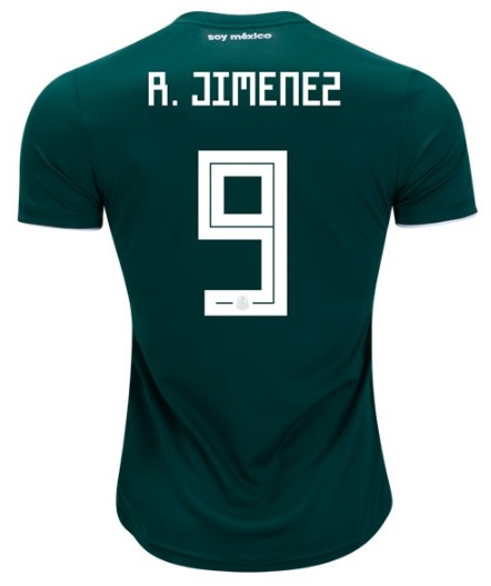 c6479c9dcc9 Raul Jimenez  9 Jersey 2018 Soccer Mexico National Team Home Shirt Green