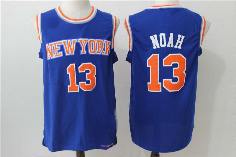 530717dd7c4b Mens New York Knicks  13 Joakim Noah Retro Hardwood Classics Swingman Jersey