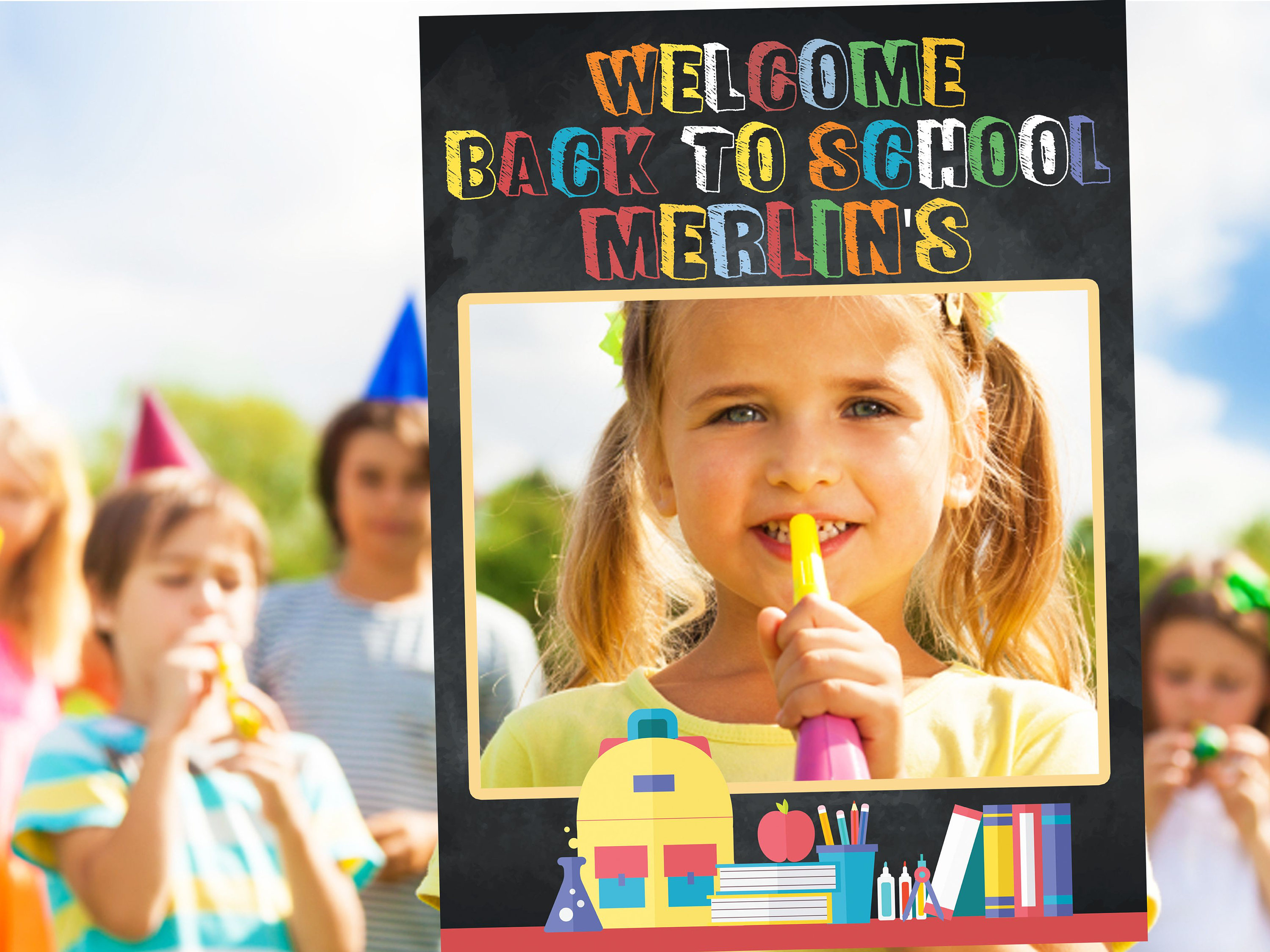 First day of school photo frame prop