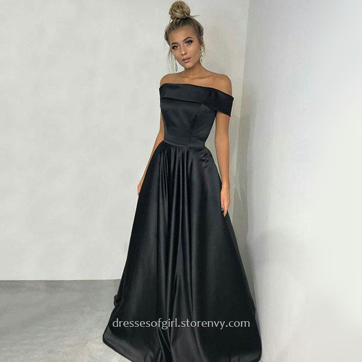 2fc5d3d50acd black silk prom dress – Little Black Dress | Black Lace Bridesmaid ...