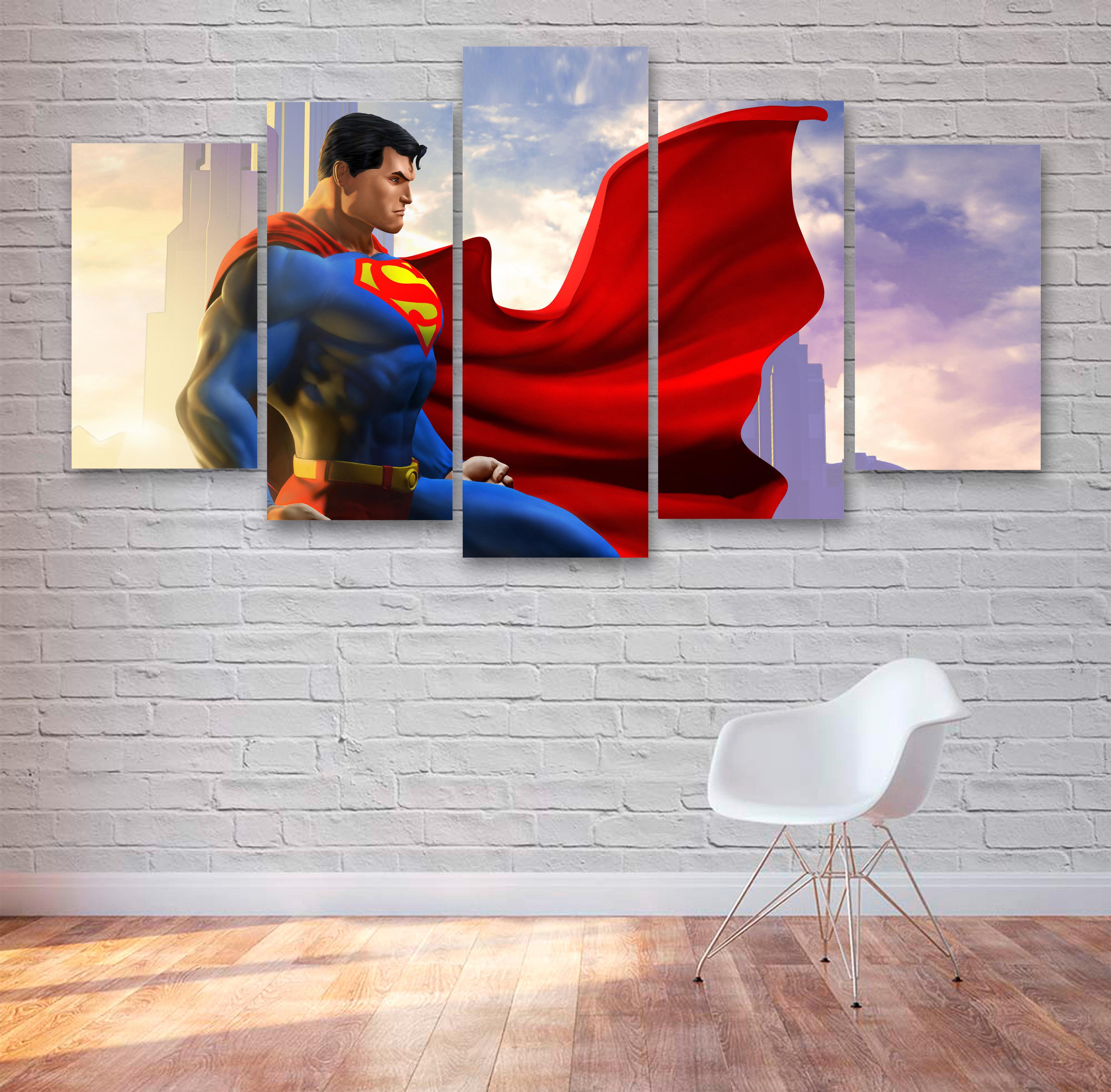 DC Superman Movie 5 Piece Canvas, Multi Panel Canvas, Home Decor, Bedroom  Decor, Office Decor 066 sold by PrintBoxGB