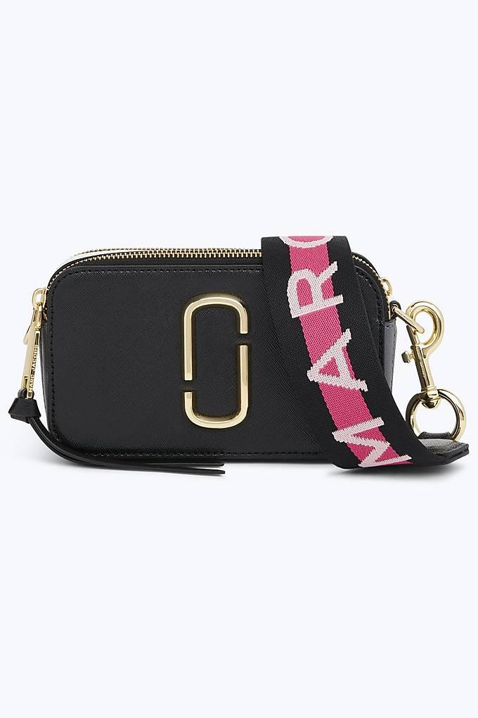 43483e77a260 Marc Jacobs Snapshot Small Camera Bag Crossbody Bag Logo Strap Black Auth  on Storenvy