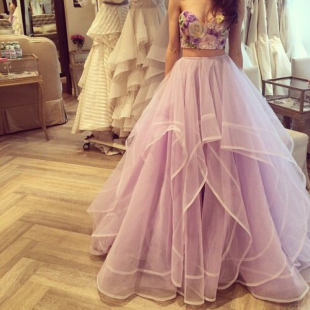 f4d891fe300b Romantic Two Piece party gowns ,sexy prom gowns,new fashion ...