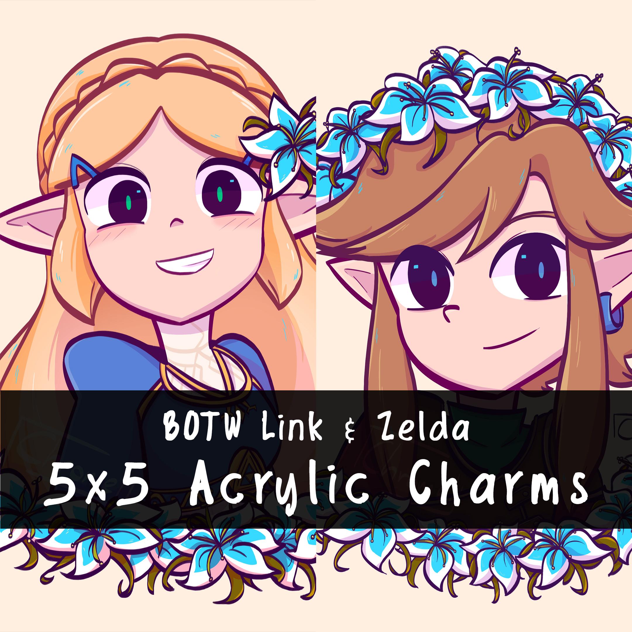Link Zelda Silent Princess Flower Crown Acrylic Charms