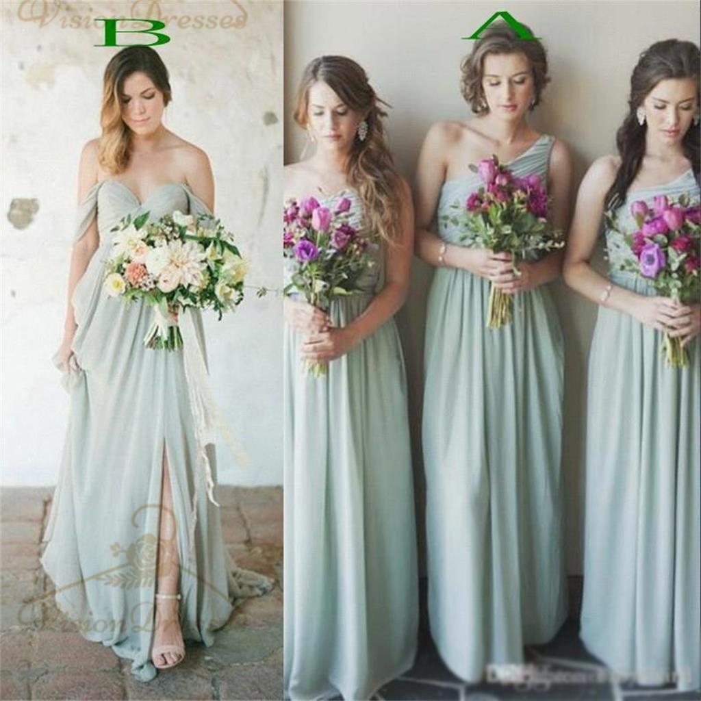 Green Bridesmaid Dresses Off Shoulder Bridesmaid Dresses One Shoulder Bridesmaid Dresses Long Popular Bridesmaid Dresses Vb0041 Sold By Visiondresses On Storenvy