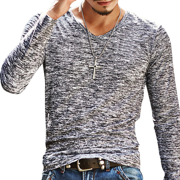 real deal deft design wide selection Men's Casual Slim Fit Long-Sleeved T-shirt from BYOB