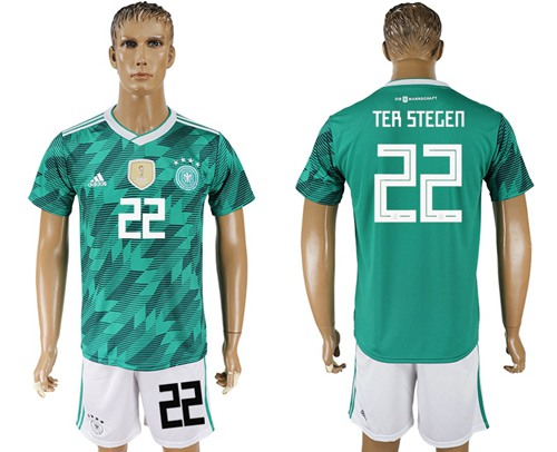 0cd43ef33 Germany  22 Ter Stegen Away Soccer Country Jersey on Storenvy