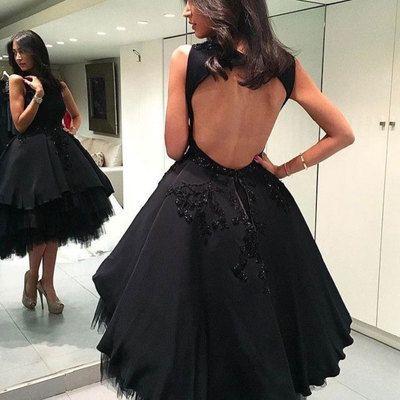 Princess Little Black Dress With Open Backyy186 Modern Sky