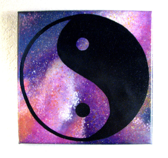 Best Pink Galaxy Yin Yang Painting - Original, One Of A Kind, Acrylic  RB58