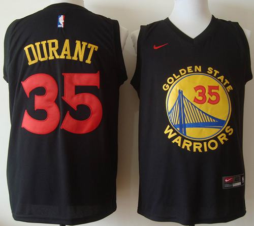 da1dd7e4b Warriors  35 Kevin Durant Black New Fashion Stitched NBA Jersey ...