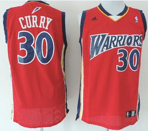 Warriors  30 Stephen Curry Red Throwback Stitched NBA Jersey on ... d10ae563a