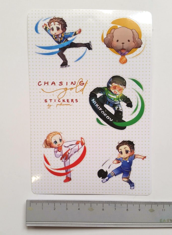 Yuri On Ice Chasing Gold Stickers 10 Cm X 15 Cm Sticker Sheet From Paluumins Shop