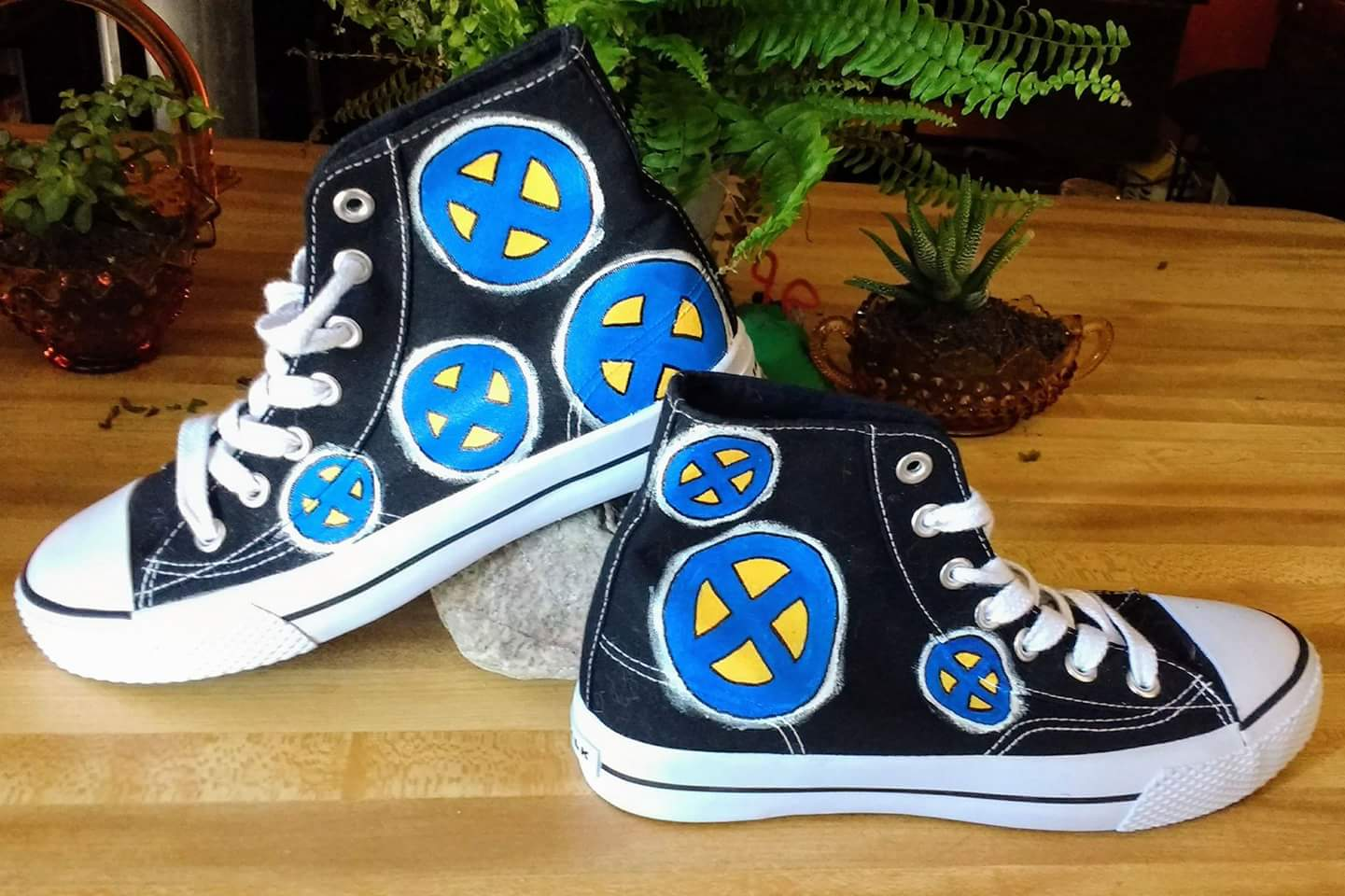 f75ebe4b3b369 X-Men hand painted Converse shoes from Heart and Soles