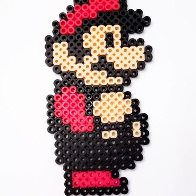 Mario Side Profile Bead Sprite Pixel Art Piece A Little