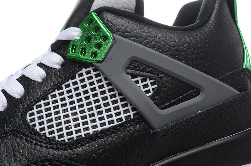 Nike Air Jordan 4 Oregon Ducks Black white green Shoes on Storenvy 3183fe347a12
