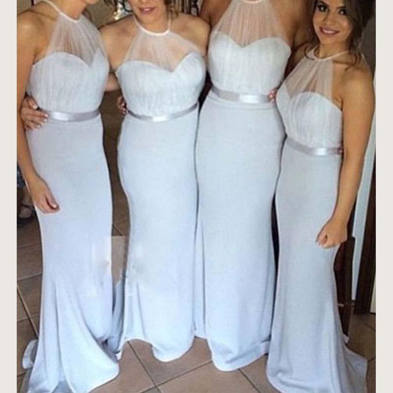 Pretty bridesmaid dresses,pale blue bridesmaid dresses, sweet heart ...
