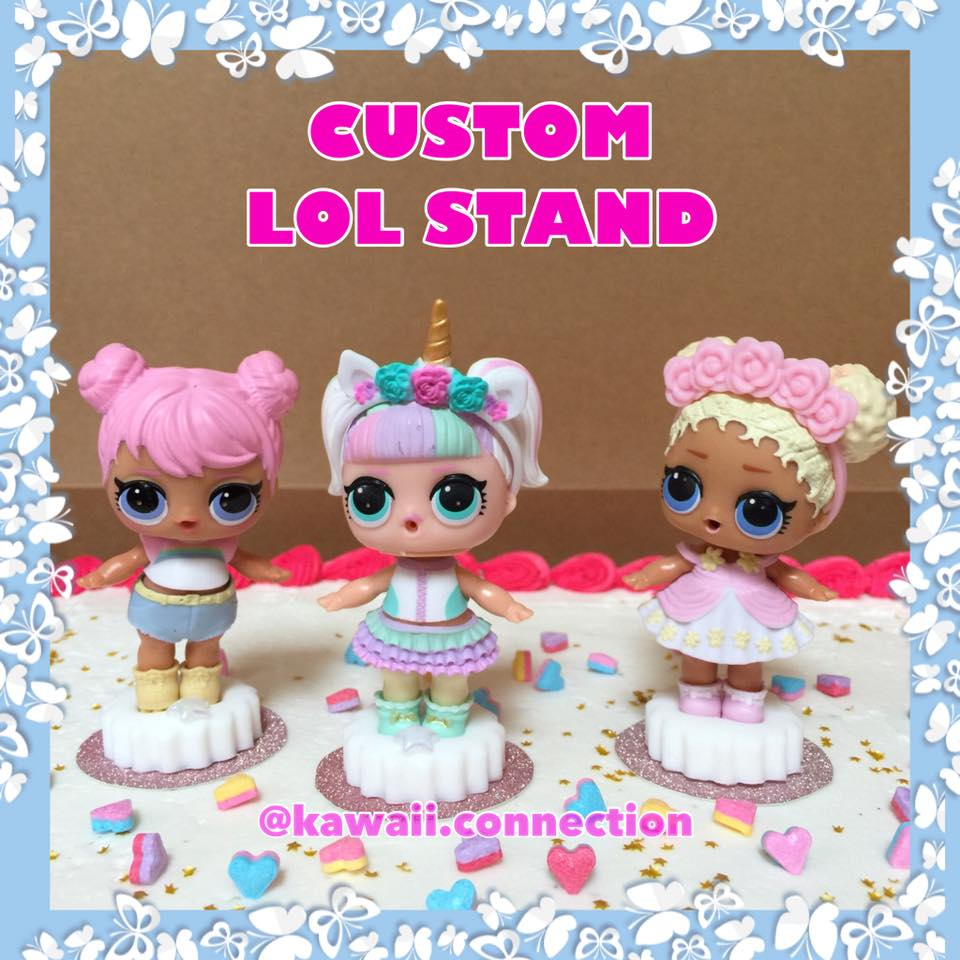 Standing Lil Sis Set Of 5 Pcs Custom Lol Surprise Doll Stand For