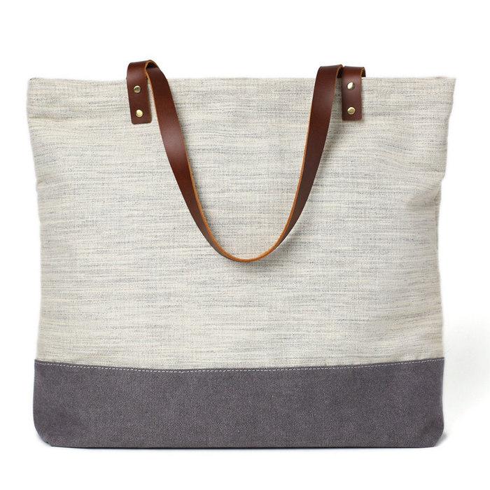 ef3b960e9d83 Handmade Canvas Tote Bags Women Shoulder Bags College Handbags 14040 ...