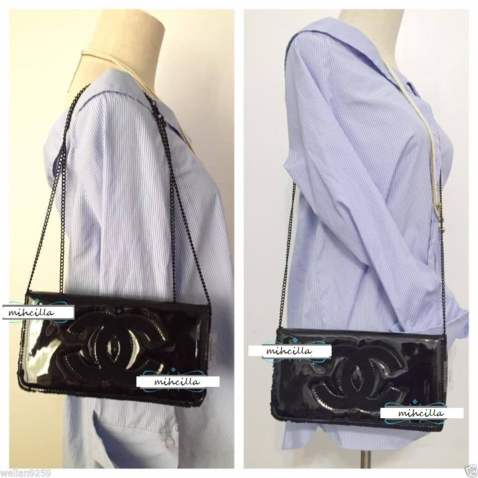 107ff798aaae Chanel Patent Leather Crossbody Shoulder Clutch Bag on Storenvy