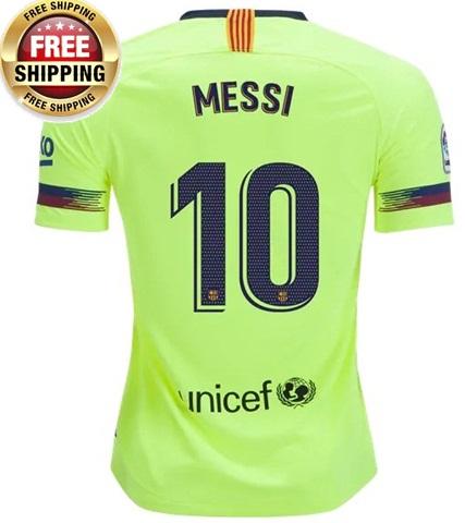 e2564d6cfd4 Lionel Messi  10 Barcelona FC 2018 19 Away Soccer Jersey Men