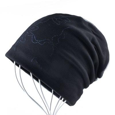 969db8d8823 Women s Warm Winter Hat Ladies Elegant Beanies With Mesh Fashion Rhinestone  Flower Caps Women Streetwear Skullies