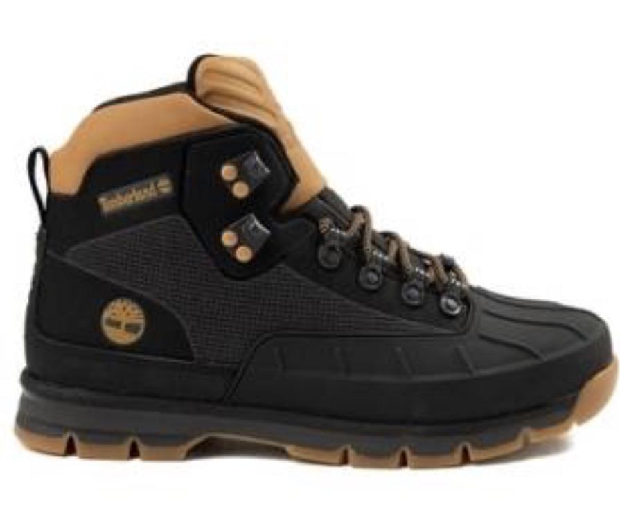 b64540ac15ae Mens Timberland Euro Hiker Shell-Toe Jacquard Boot Black Wheat - Thumbnail  1 ...