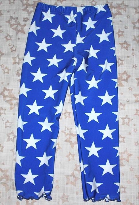 Girls Leggings Tights In Wonder Woman Blue Stars Size 3m