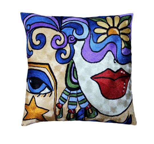 Klimt-kiss-starry-night-accent-modern-throw-pillow-cover ...