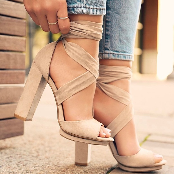 a5dc6e1ec04 Bandage Women Shoes Casual Sexy Lace Up Party Shoes High Heel Sandals G5482  from Eoooh❣❣