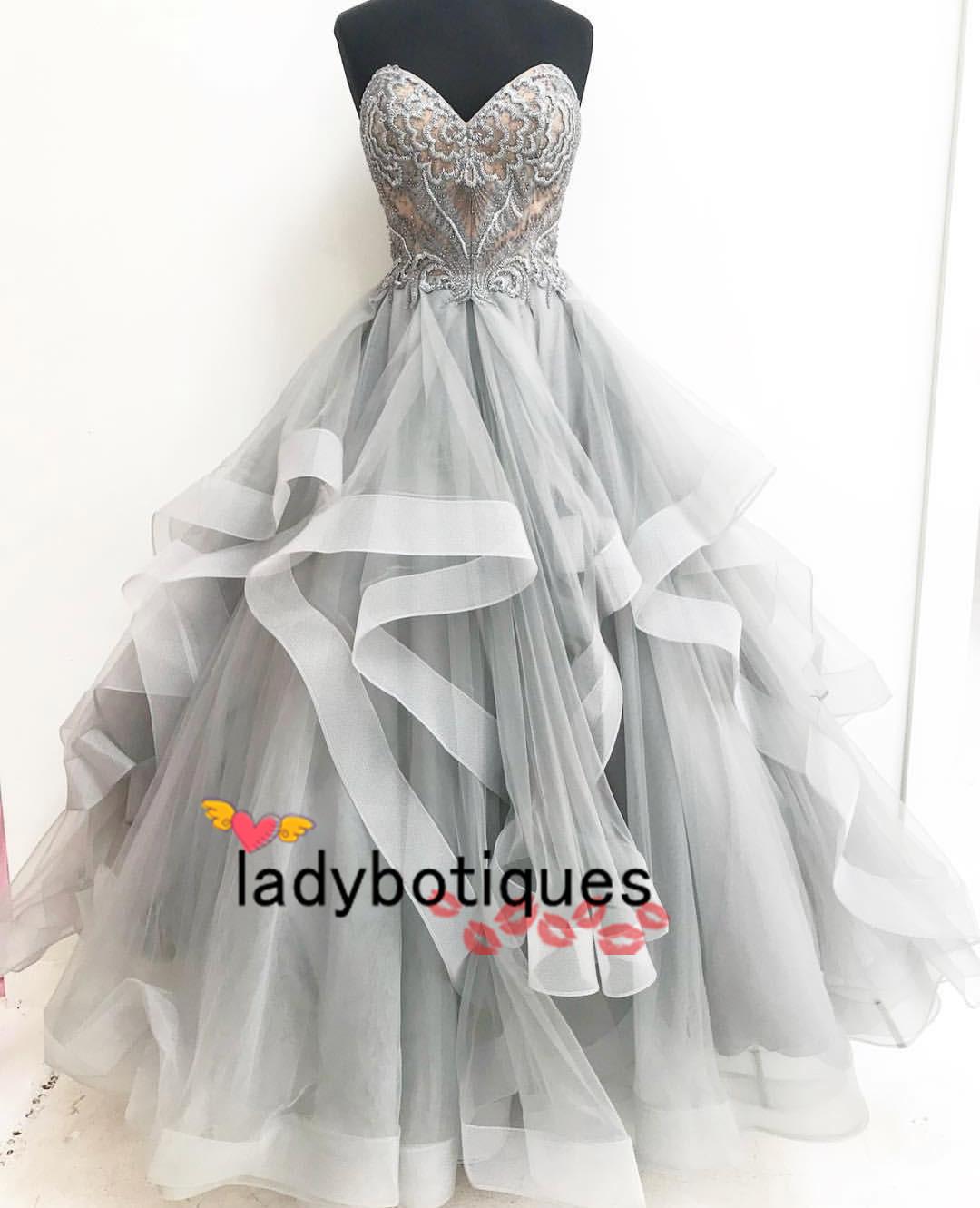 ae3201972ff Grey Sweetheart Wedding Dress - Data Dynamic AG